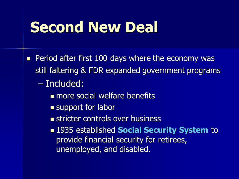 Second New Deal Included: