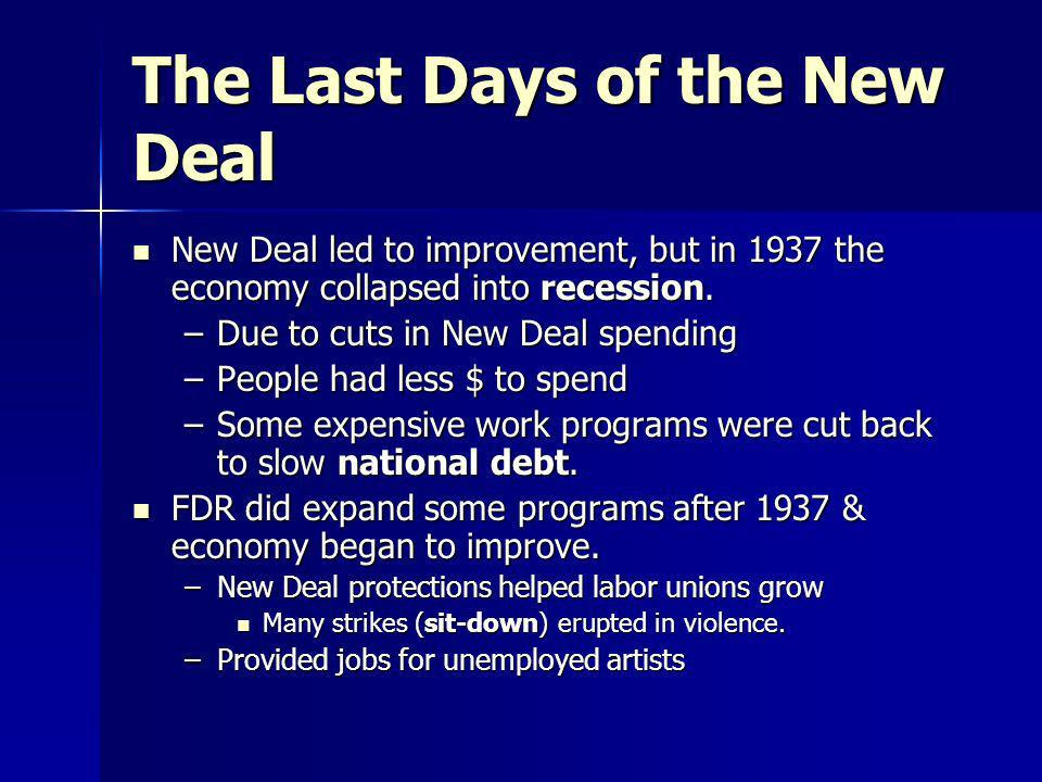 The Last Days of the New Deal