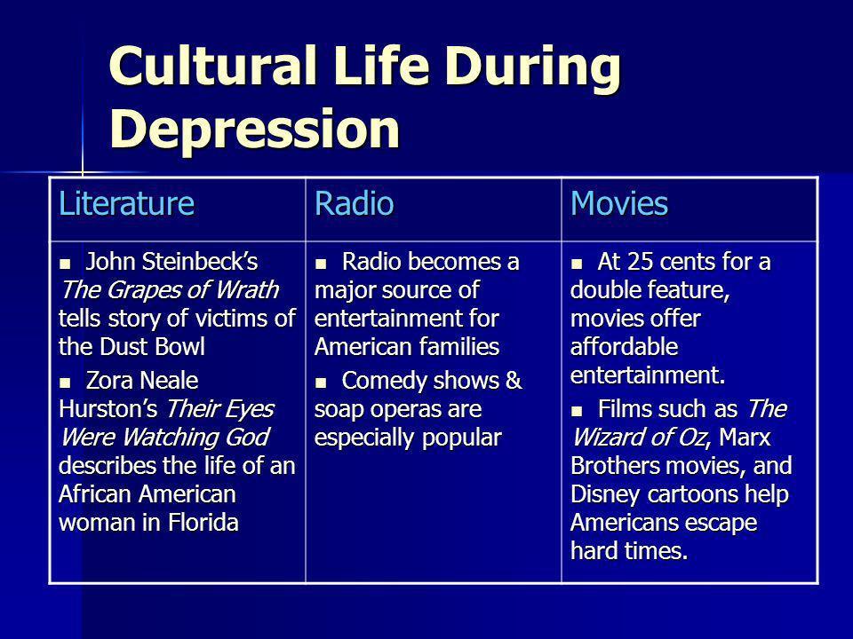 Cultural Life During Depression