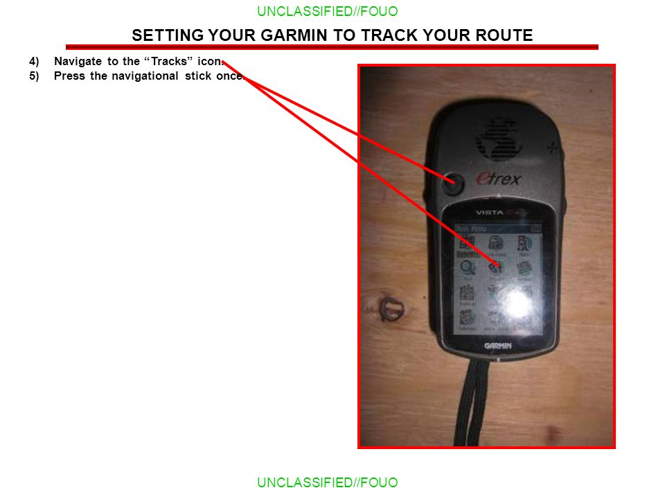SETTING YOUR GARMIN TO TRACK YOUR ROUTE