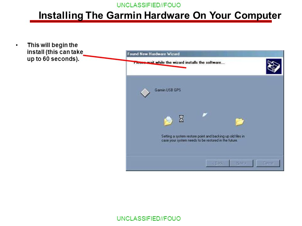 Installing The Garmin Hardware On Your Computer
