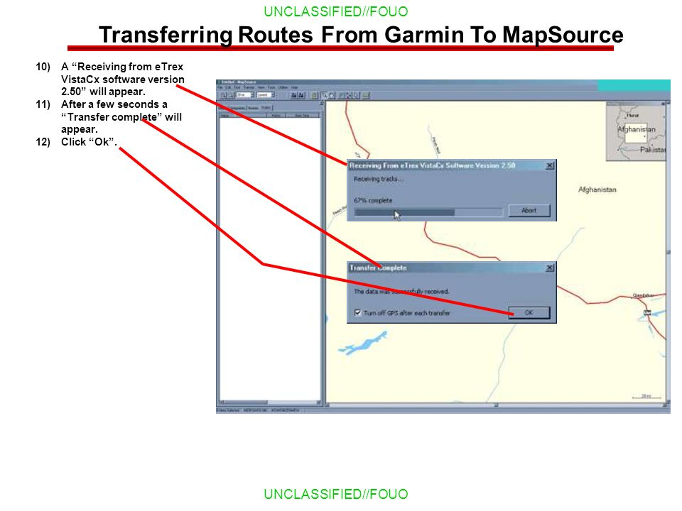 Transferring Routes From Garmin To MapSource