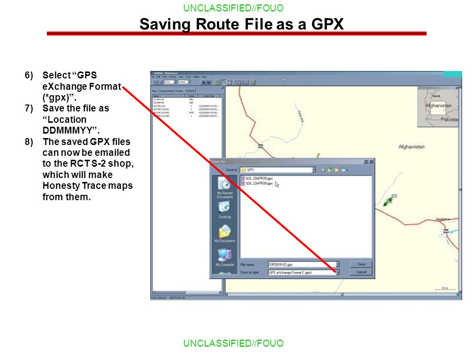 Saving Route File as a GPX