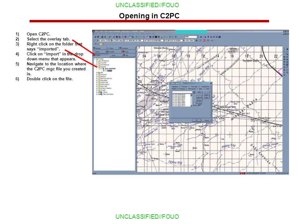 Opening in C2PC Open C2PC. Select the overlay tab.