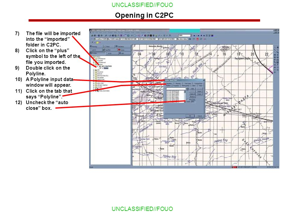 Opening in C2PC The file will be imported into the imported folder in C2PC. Click on the plus symbol to the left of the file you imported.