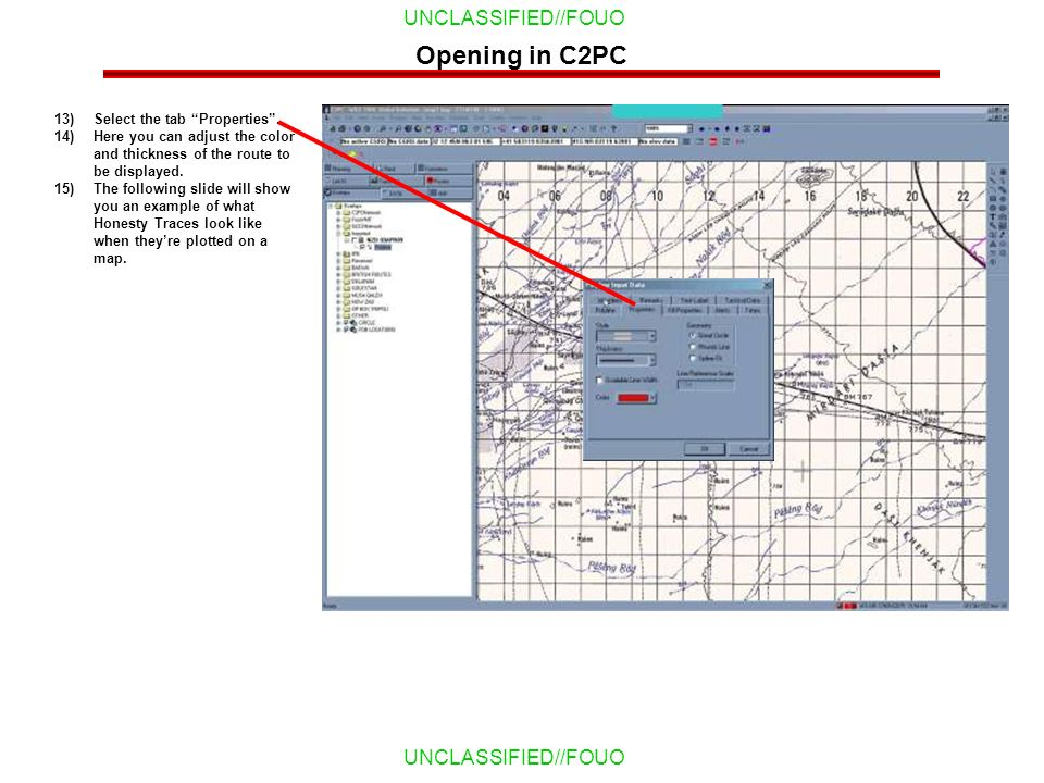 Opening in C2PC Select the tab Properties .