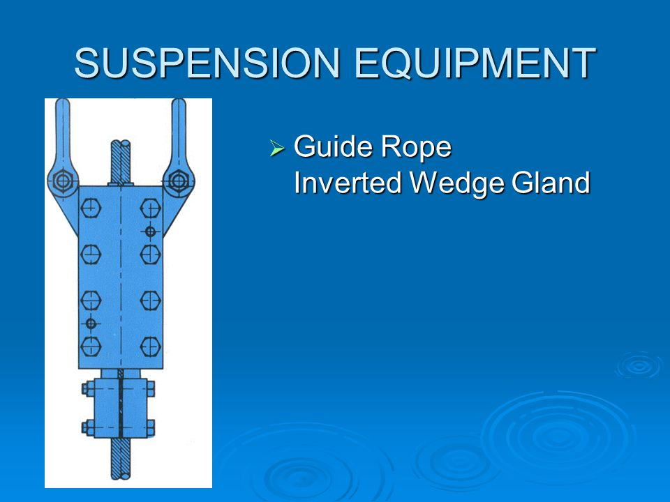SUSPENSION EQUIPMENT Guide Rope Inverted Wedge Gland