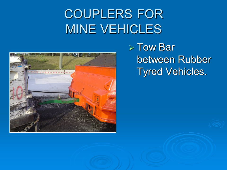 COUPLERS FOR MINE VEHICLES