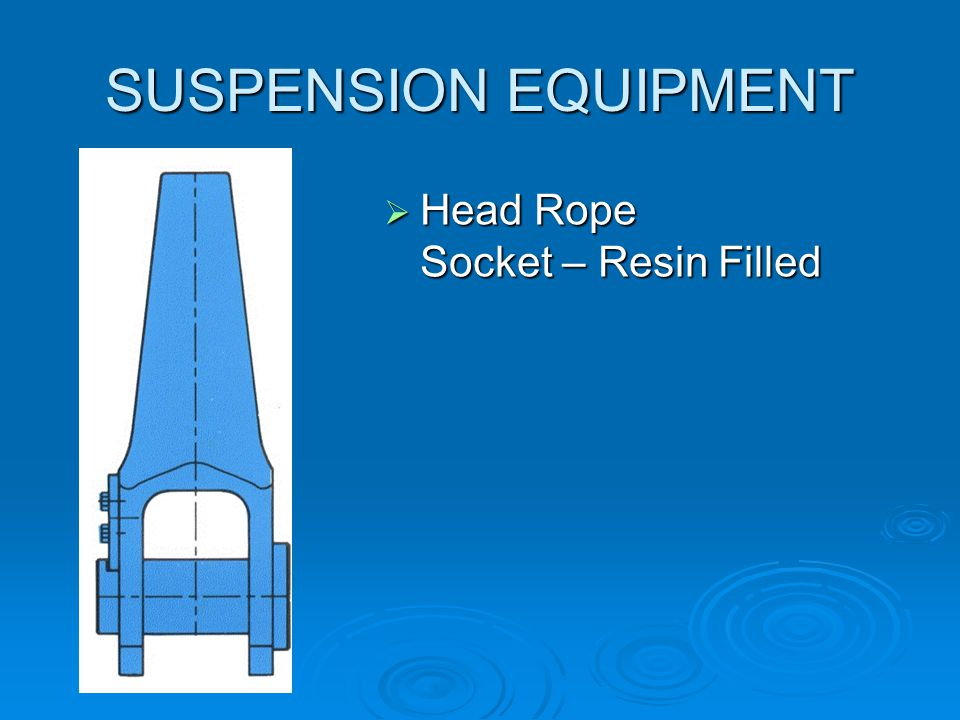 SUSPENSION EQUIPMENT Head Rope Socket – Resin Filled