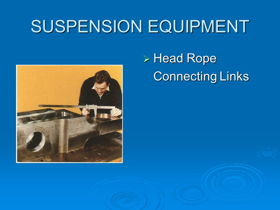 SUSPENSION EQUIPMENT Head Rope Connecting Links