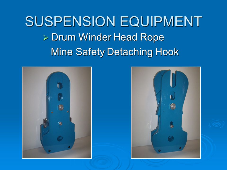 SUSPENSION EQUIPMENT Drum Winder Head Rope Mine Safety Detaching Hook