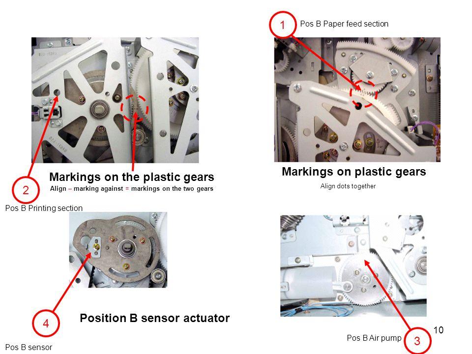 Markings on plastic gears Markings on the plastic gears 2
