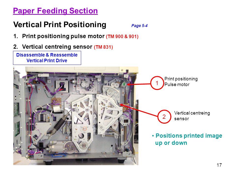 Disassemble & Reassemble Vertical Print Drive