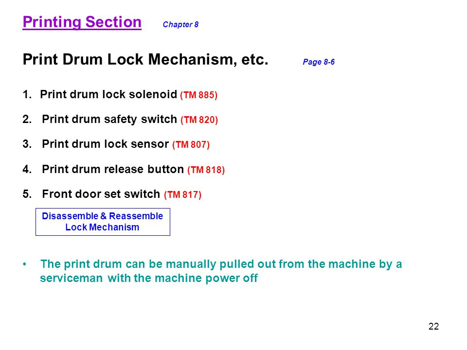 Disassemble & Reassemble Lock Mechanism