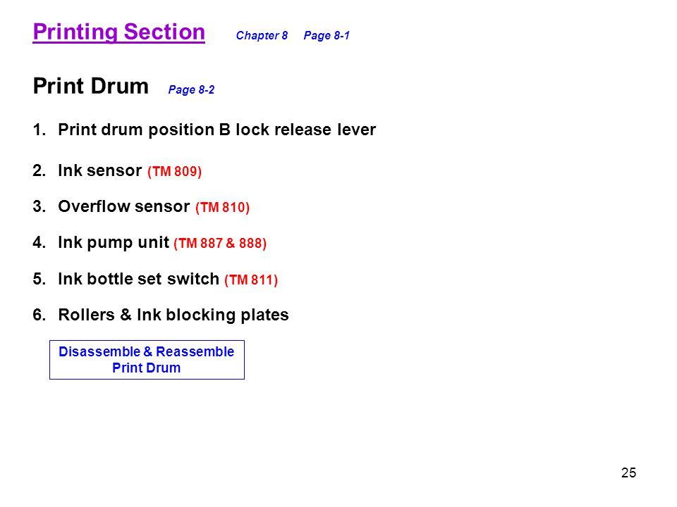 Disassemble & Reassemble Print Drum