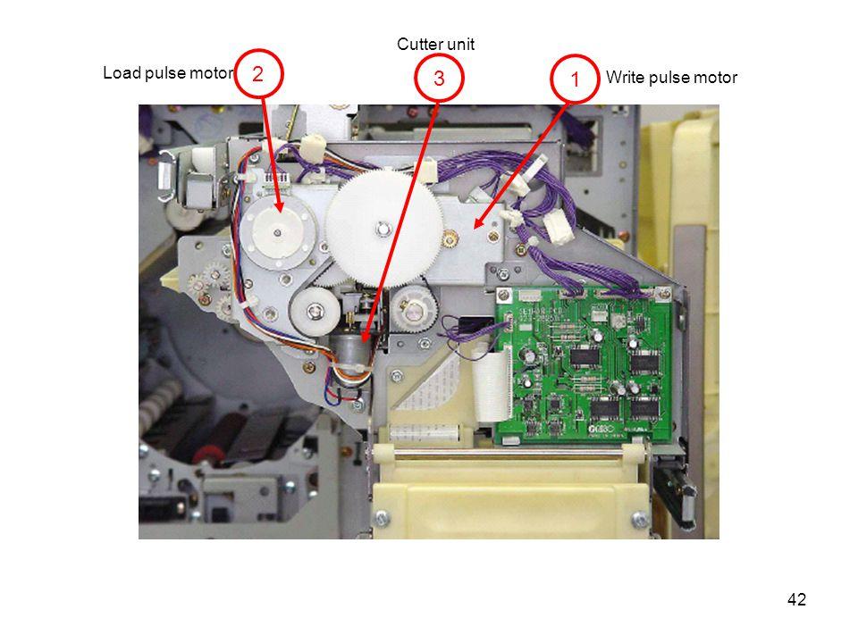 Cutter unit 2 Load pulse motor 3 1 Write pulse motor