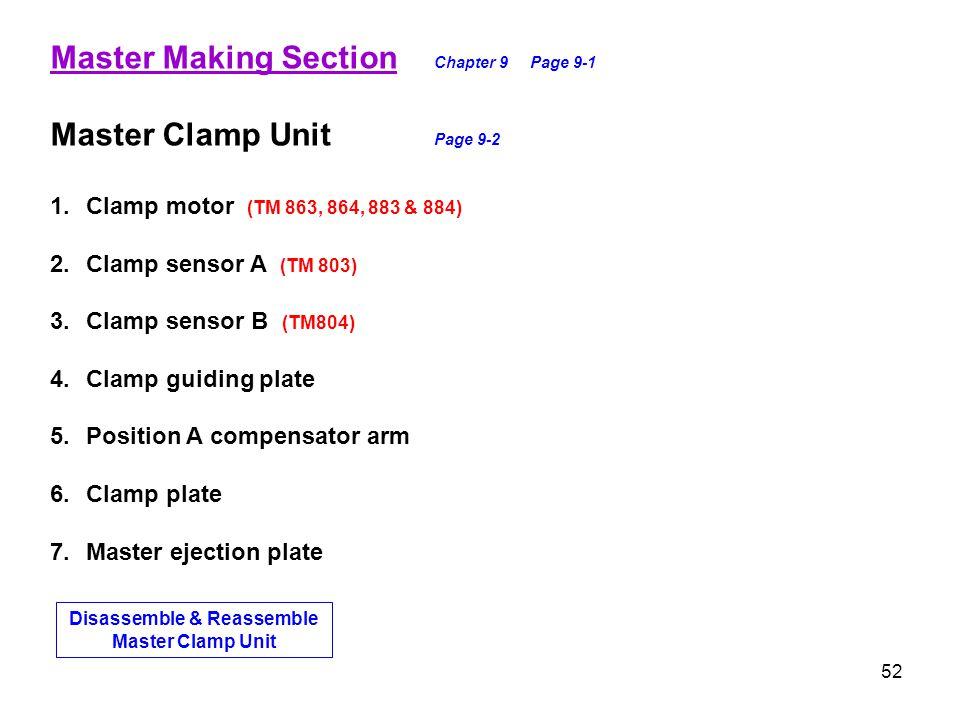 Disassemble & Reassemble Master Clamp Unit