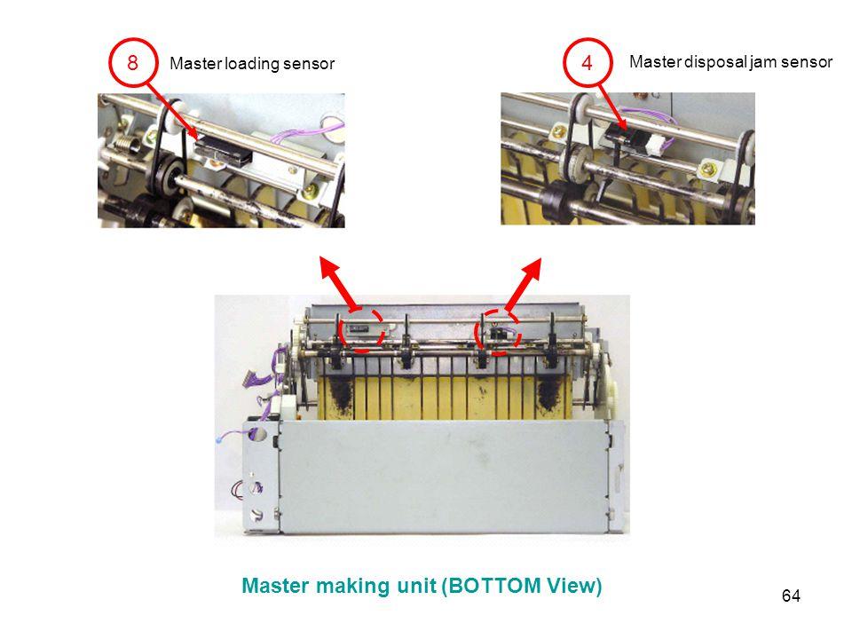 Master making unit (BOTTOM View)