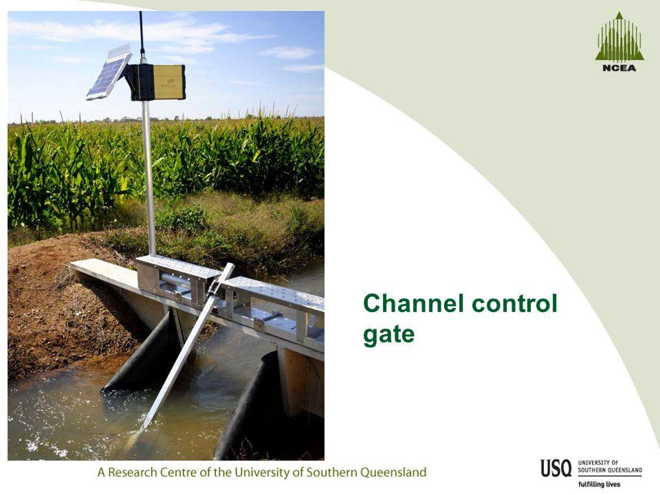 Channel control gate