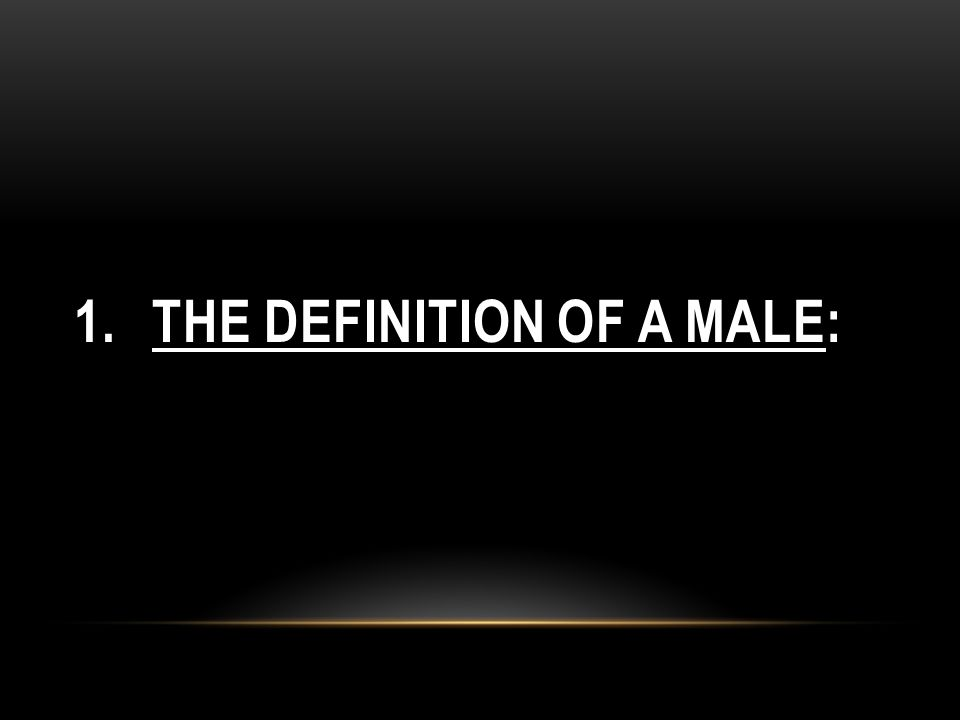 The Definition of a Male: