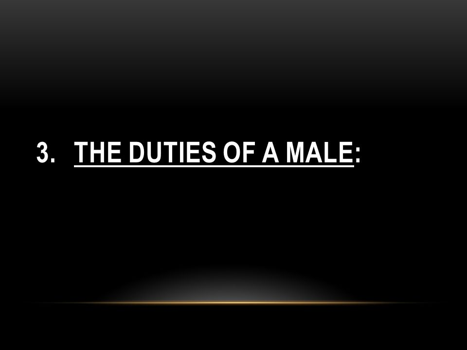 The Duties of a Male: