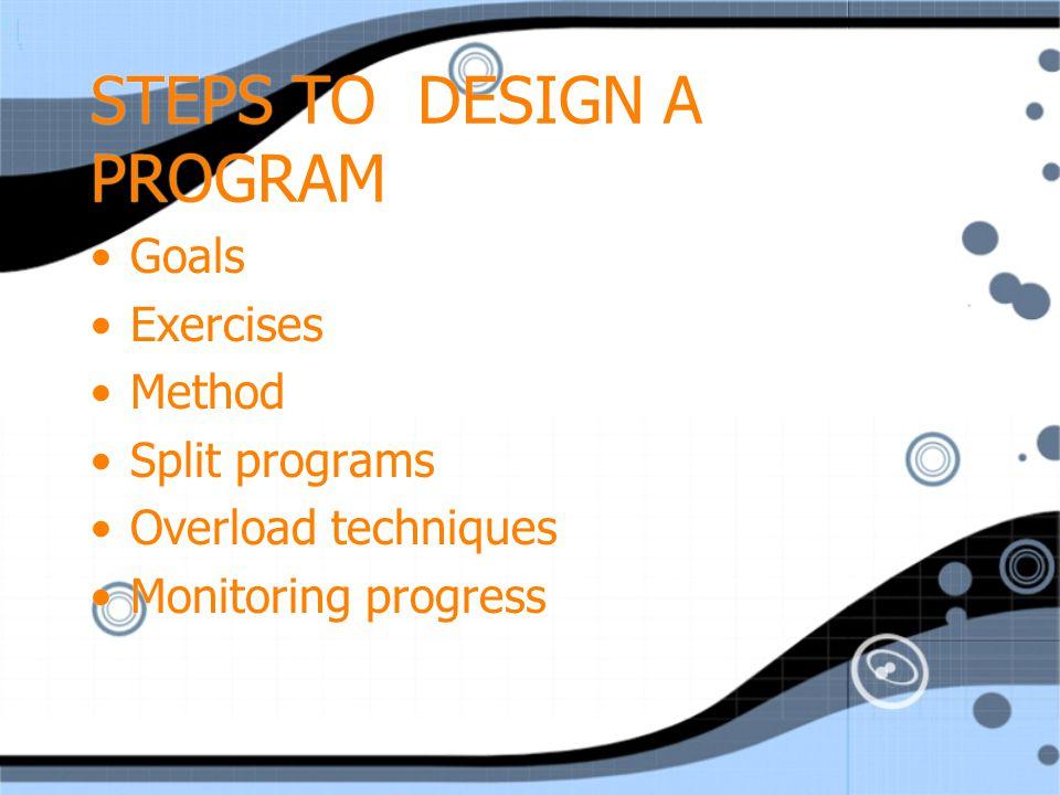 STEPS TO DESIGN A PROGRAM