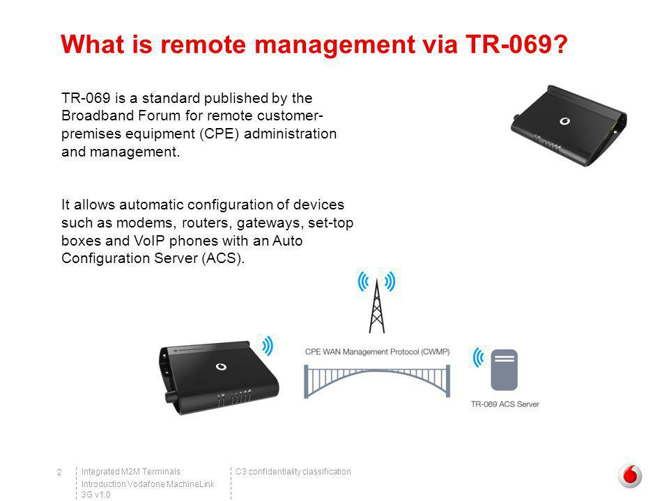 What is remote management via TR-069