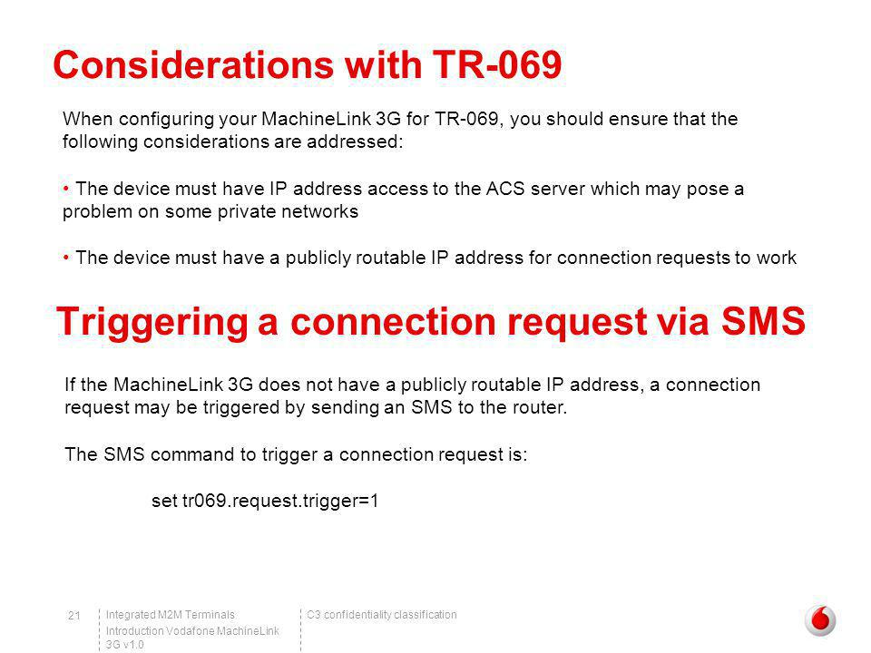 Considerations with TR-069
