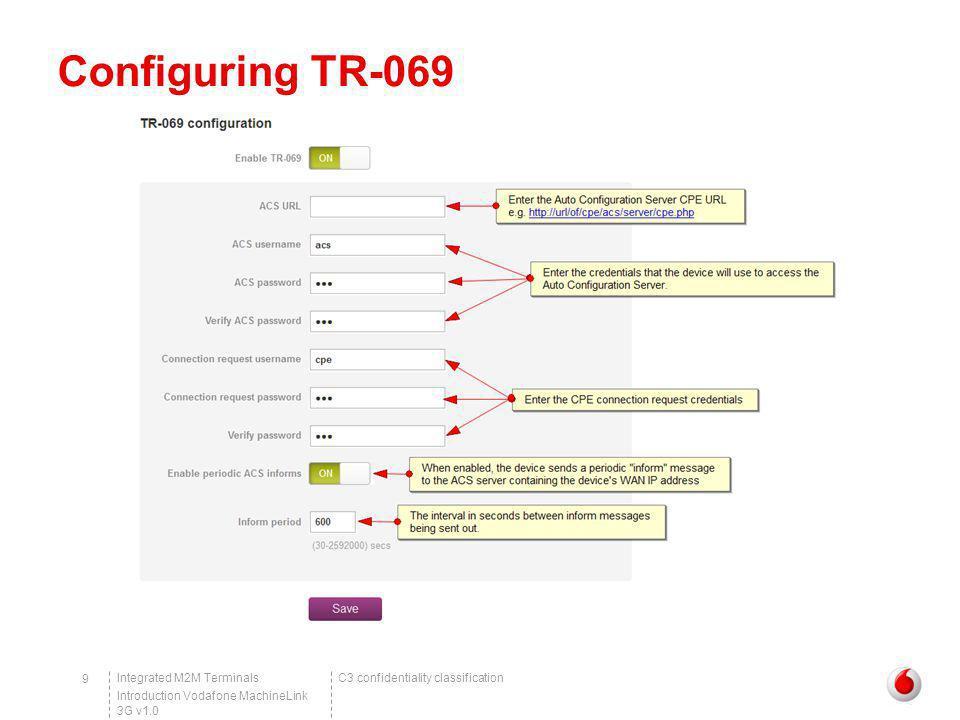 Configuring TR-069