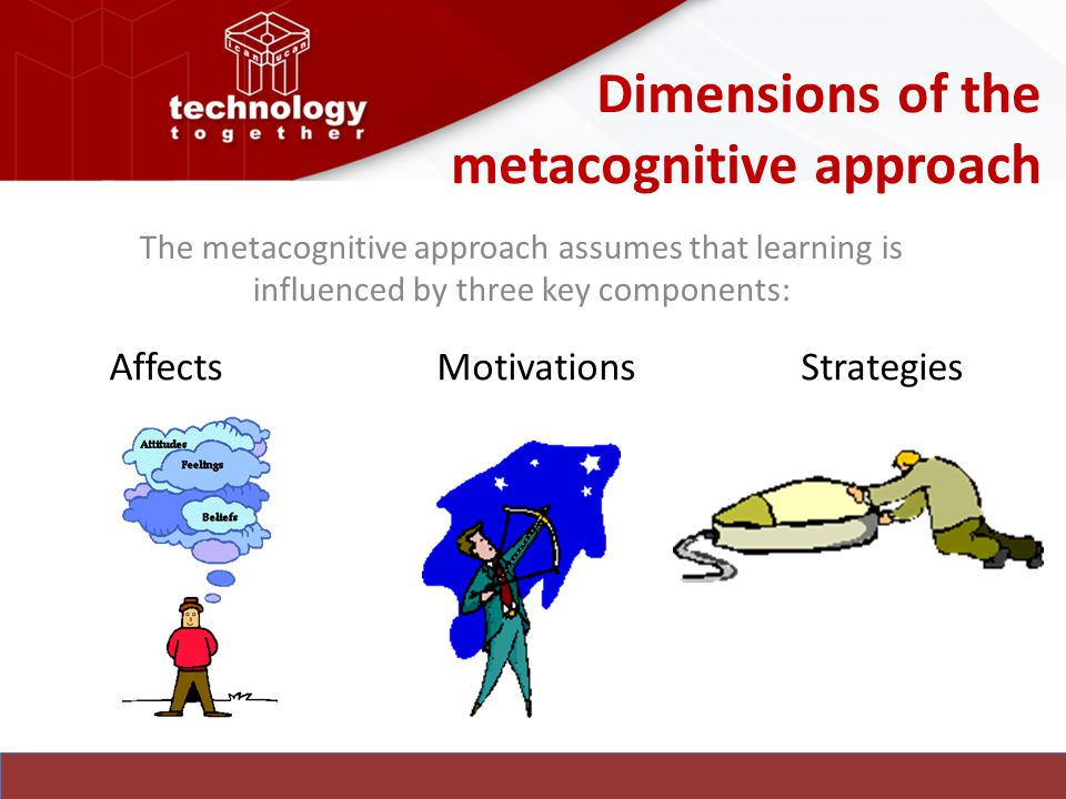 Dimensions of the metacognitive approach