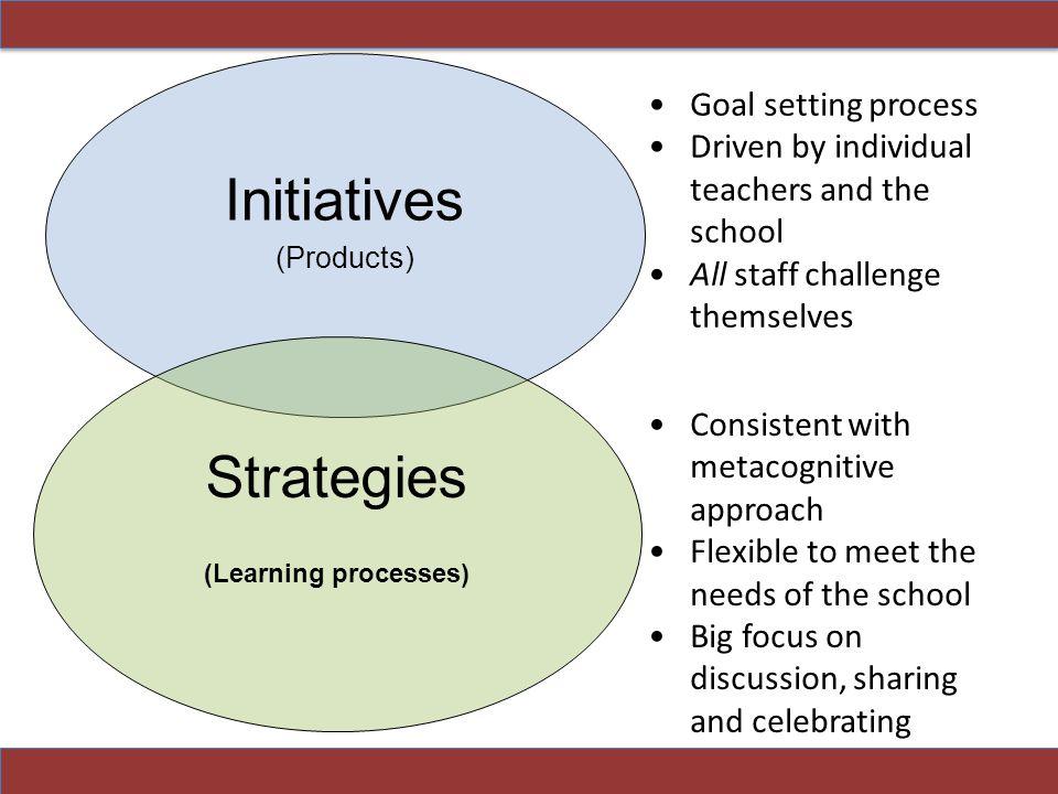 Initiatives Strategies Goal setting process