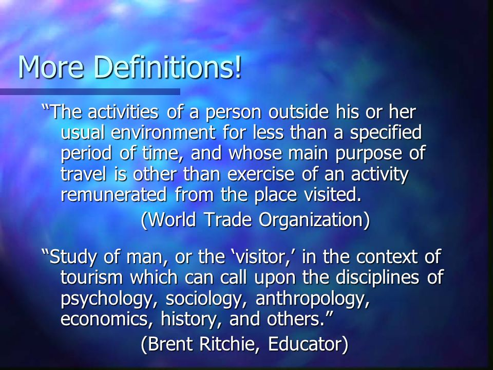 More Definitions!