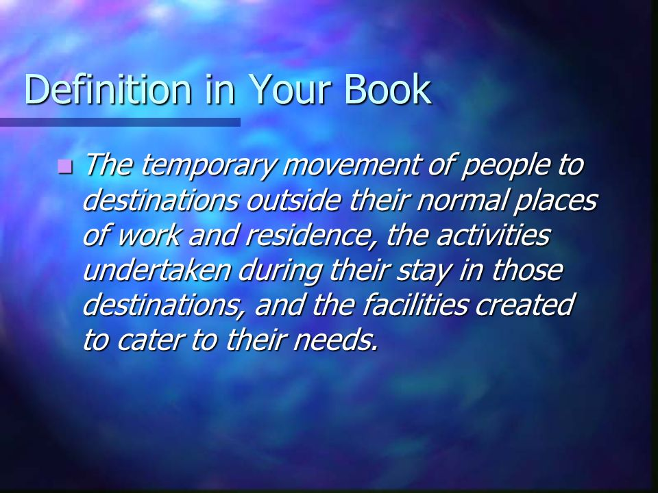 Definition in Your Book