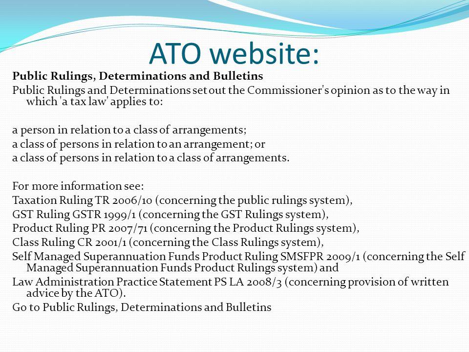 ATO website: