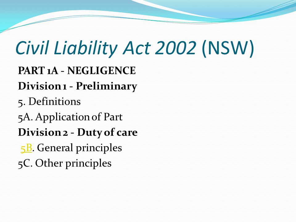 Civil Liability Act 2002 (NSW)