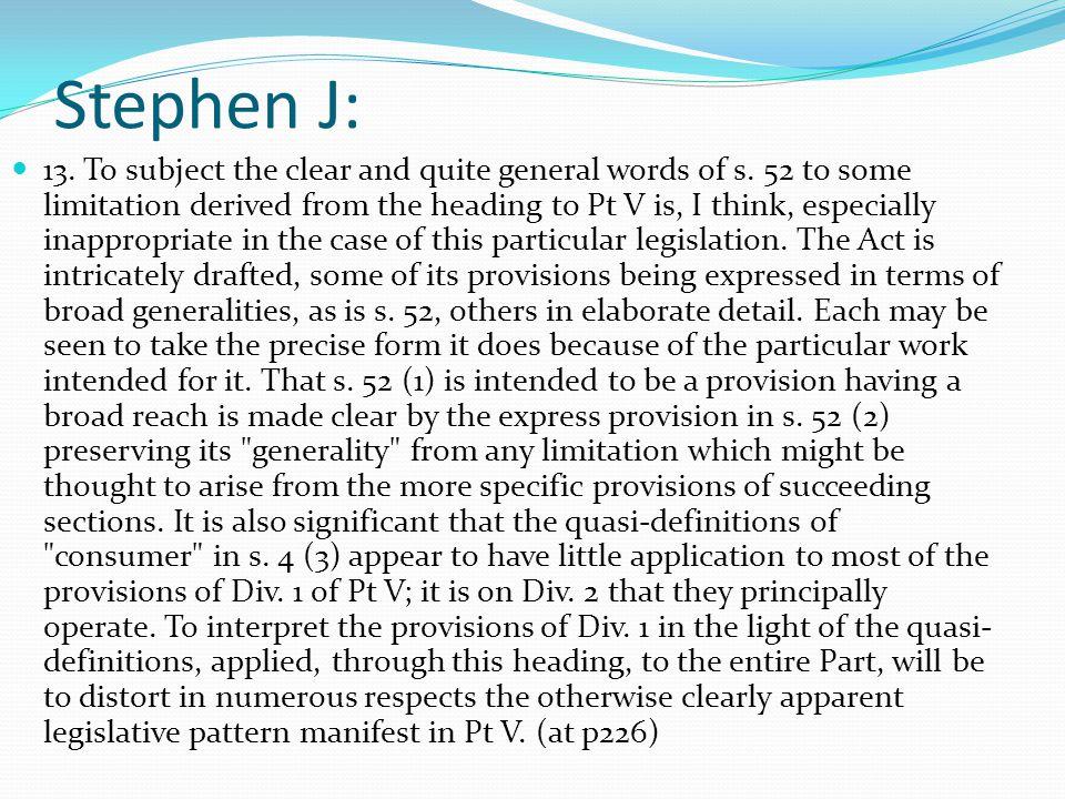 Stephen J: