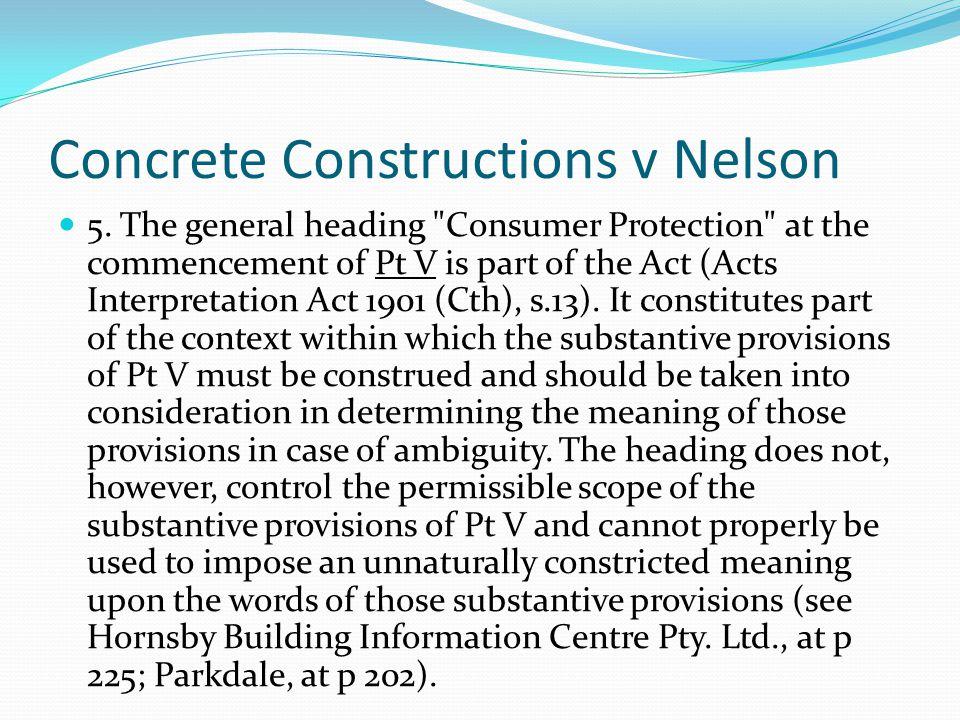Concrete Constructions v Nelson
