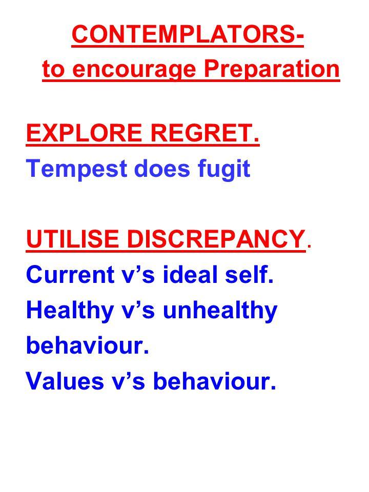 CONTEMPLATORS- to encourage Preparation