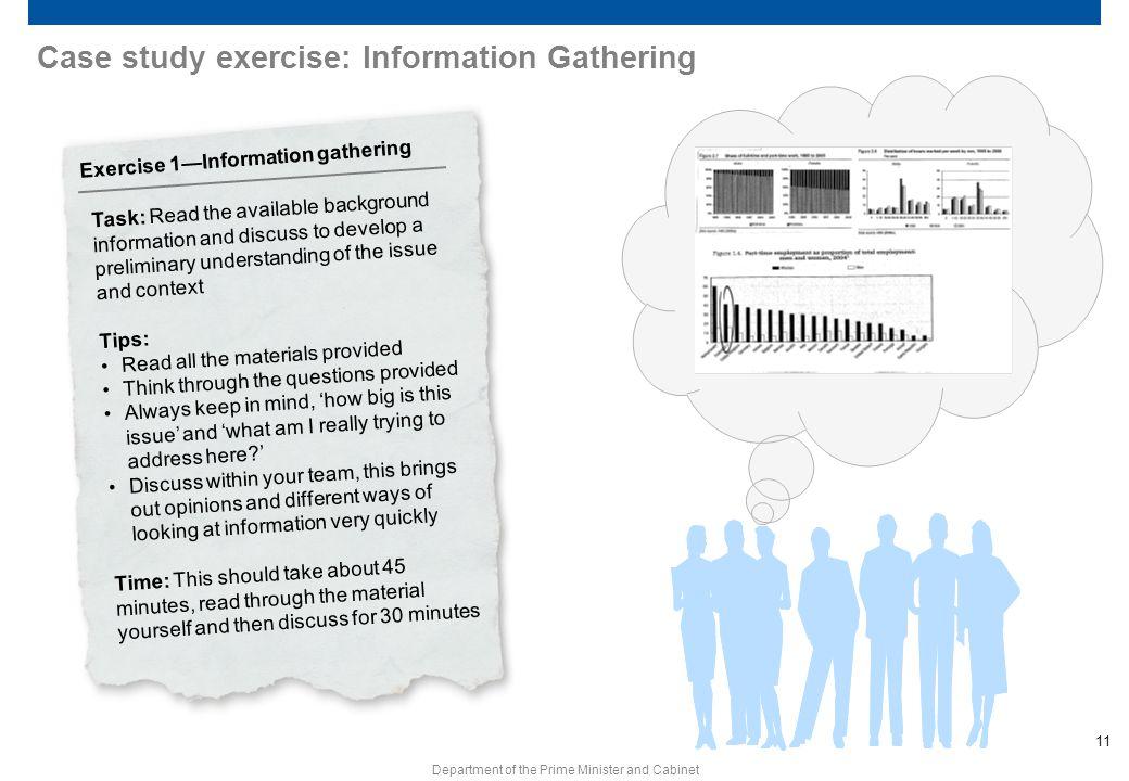 Case study exercise: Information Gathering