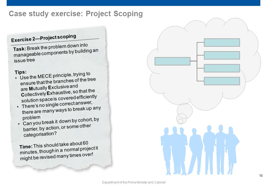 Case study exercise: Project Scoping