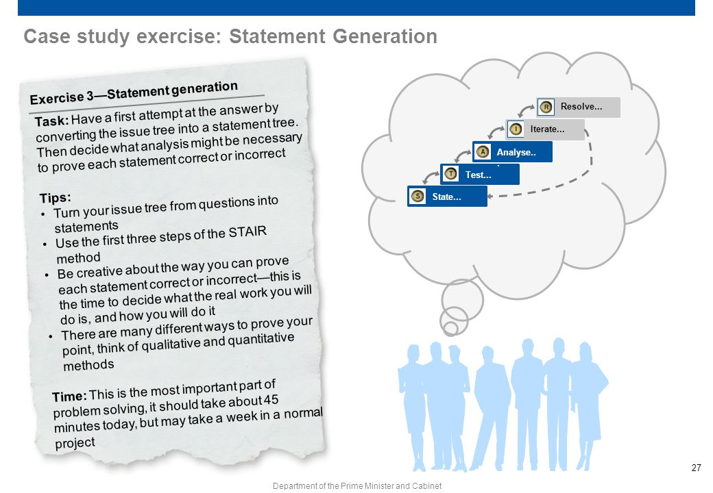 Case study exercise: Statement Generation