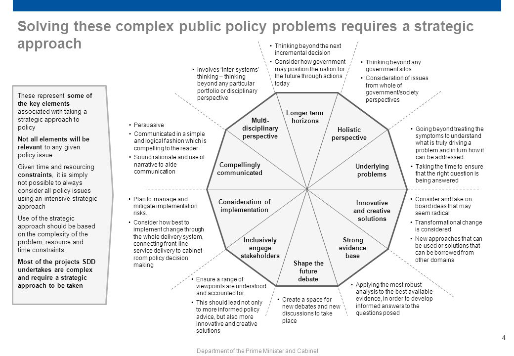 Solving these complex public policy problems requires a strategic approach