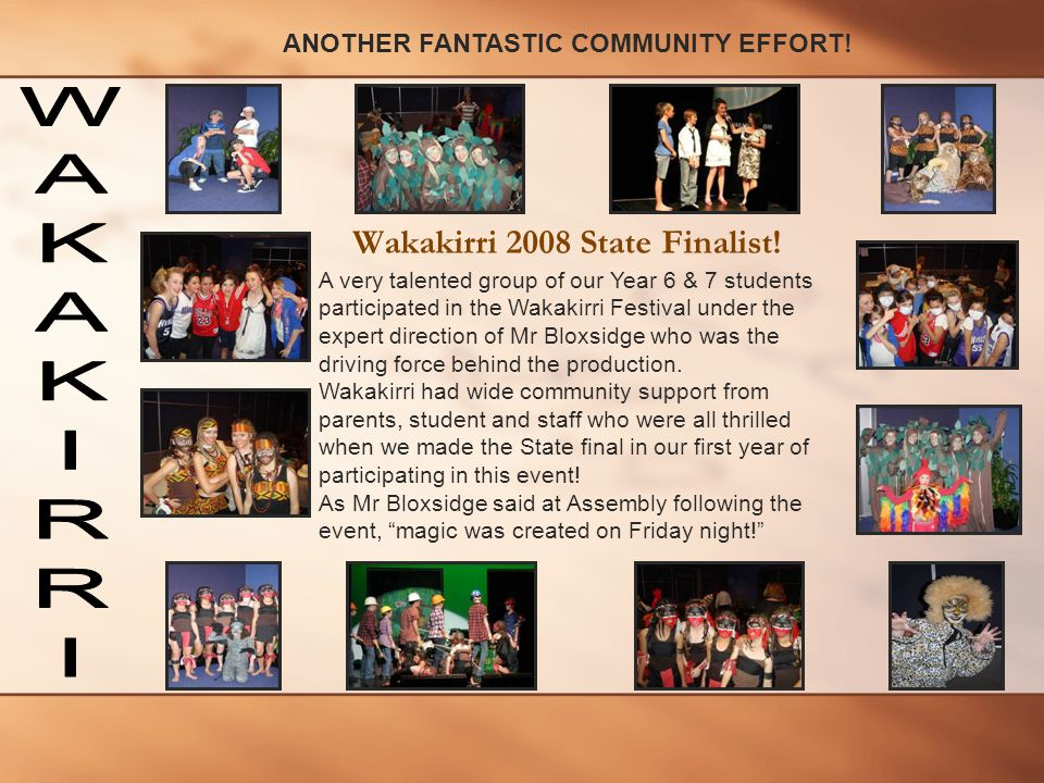 Wakakirri 2008 State Finalist!