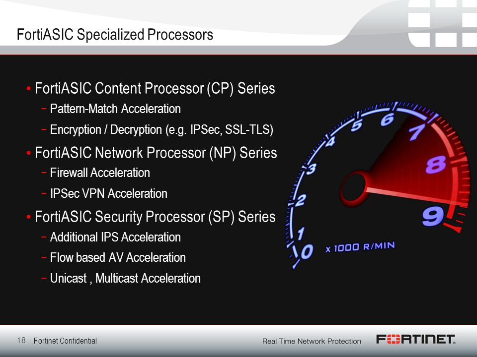 FortiASIC Specialized Processors