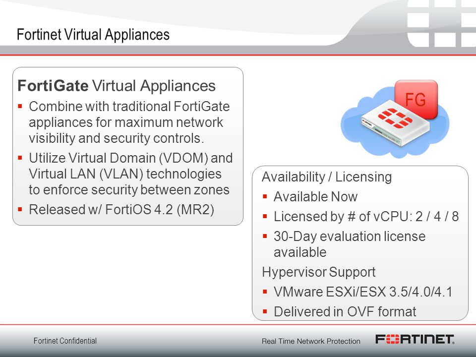 Fortinet Virtual Appliances