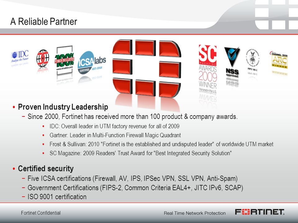 A Reliable Partner Proven Industry Leadership Certified security