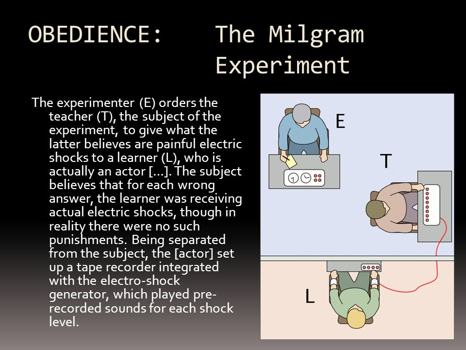 OBEDIENCE: The Milgram Experiment