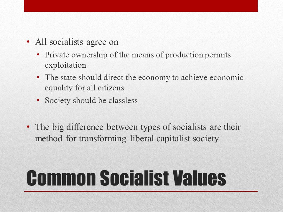 Common Socialist Values