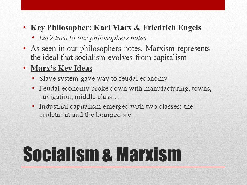Socialism & Marxism Key Philosopher: Karl Marx & Friedrich Engels