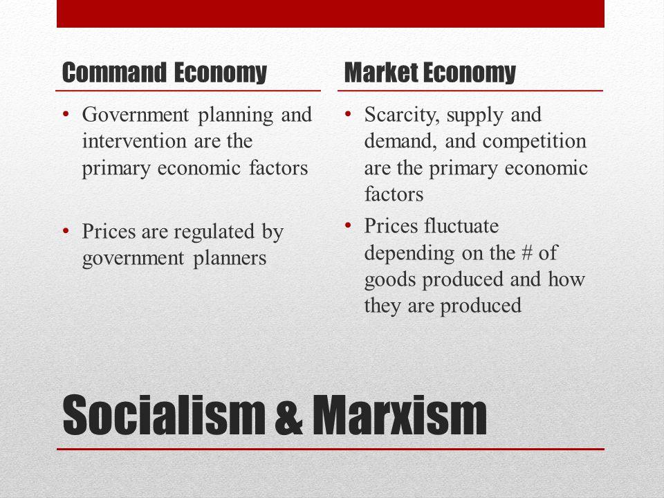 Socialism & Marxism Command Economy Market Economy
